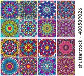 set of ethnic seamless pattern. ... | Shutterstock .eps vector #400589026