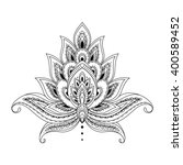 floral paisley ornament. ethnic ... | Shutterstock .eps vector #400589452