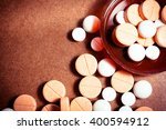 colorful medication and pills.... | Shutterstock . vector #400594912