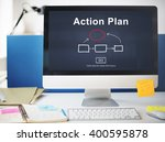 action plan planning strategy... | Shutterstock . vector #400595878