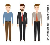 set of man character at office... | Shutterstock .eps vector #400599856