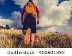 hiking man or trail runner... | Shutterstock . vector #400601392