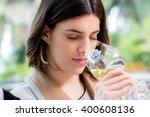 close up portrait of attractive ... | Shutterstock . vector #400608136
