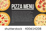 flat style. pizza card menu.... | Shutterstock .eps vector #400614208