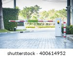barrier gate for visitor car at ... | Shutterstock . vector #400614952