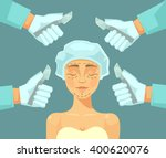 plastic surgery. vector flat... | Shutterstock .eps vector #400620076