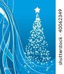 abstract christmas background | Shutterstock .eps vector #40062349