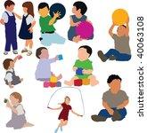children  in vector | Shutterstock .eps vector #40063108