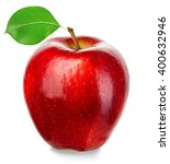 ripe red apple isolated on a... | Shutterstock . vector #400632946