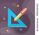 measurement tools icon   vector ... | Shutterstock .eps vector #400636462