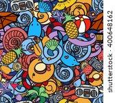 cartoon hand drawn doodles on... | Shutterstock .eps vector #400648162