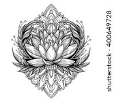 vector black and white tattoo... | Shutterstock .eps vector #400649728