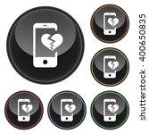 digital dating broken heart... | Shutterstock .eps vector #400650835