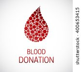 medical blood donation isolated ... | Shutterstock .eps vector #400653415
