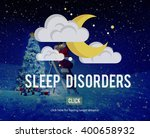 sleep disorder disturbed... | Shutterstock . vector #400658932