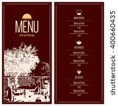 restaurant menu design. vector... | Shutterstock .eps vector #400660435
