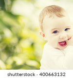 child  happiness and people... | Shutterstock . vector #400663132