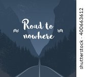 Emtpy Road To Nowhere Concept...
