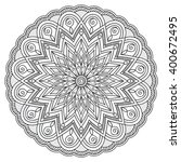 mandala with hand drawn... | Shutterstock .eps vector #400672495