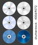 set of discs. cd dvd blu ray.... | Shutterstock .eps vector #40069072