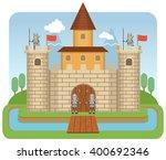 illustration of a medieval... | Shutterstock .eps vector #400692346