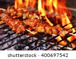 Closeup Of Some Meat Skewers...