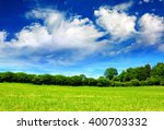 Summer Landscape With Field An...