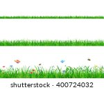 green grass banner collection... | Shutterstock .eps vector #400724032