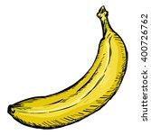 vector single sketch yellow... | Shutterstock .eps vector #400726762