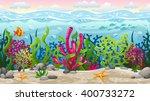 seamless underwater landscape... | Shutterstock .eps vector #400733272