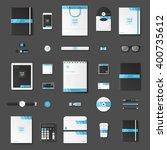 corporate identity template set.... | Shutterstock .eps vector #400735612