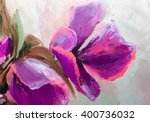Texture Oil Painting  Flowers ...
