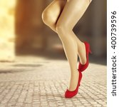 red heels  | Shutterstock . vector #400739596