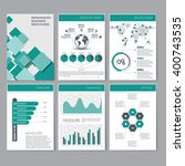 six pages of infographic... | Shutterstock .eps vector #400743535
