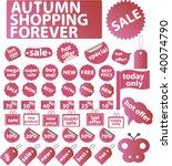 autumn shopping. vector   Shutterstock .eps vector #40074790