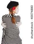 portrait of a mime comedian... | Shutterstock . vector #40074880
