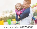 father and daughter having fun  ... | Shutterstock . vector #400754506