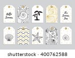set of ten printable hand drawn ... | Shutterstock .eps vector #400762588