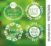 natural bio eco logotype...   Shutterstock .eps vector #400762606