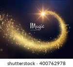 spiral trail shooting star... | Shutterstock .eps vector #400762978