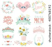 a set of cute greeting design... | Shutterstock .eps vector #400768192