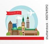 hamburg detailed silhouette.... | Shutterstock .eps vector #400769092