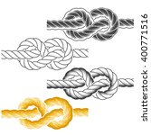 rope knots in full color ... | Shutterstock .eps vector #400771516