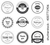 set of vintage thank you badges ... | Shutterstock .eps vector #400771906