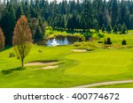 golf course with gorgeous green ... | Shutterstock . vector #400774672