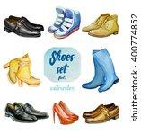 Watercolor Shoes Set  Big Set...