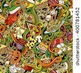 cartoon hand drawn doodles... | Shutterstock .eps vector #400781452