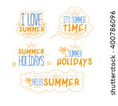 color vector summer  holidays... | Shutterstock .eps vector #400786096