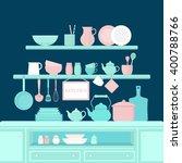 vector set of kitchen utensils...   Shutterstock .eps vector #400788766