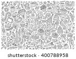 line art vector hand drawn... | Shutterstock .eps vector #400788958